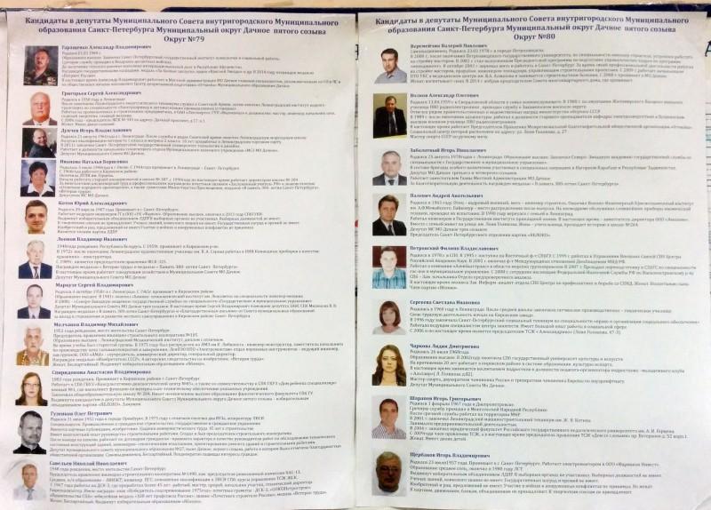 Фото и биография кандидатов в муниципальные депутаты муниципальный округ Дачное