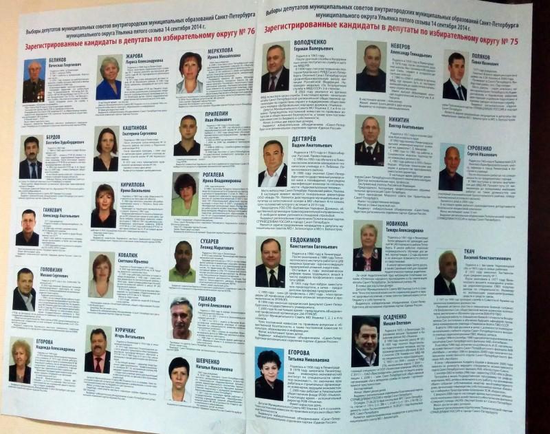 Фото и биография кандидатов в муниципальные депутаты муниципальный округ Ульянка пятого созыва (кликните, чтобы увеличить)